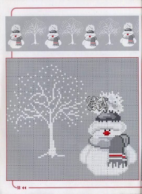 Snowman cross-stitch