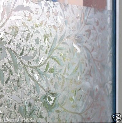 NEW WINDOW FILM 3D VIEW FROSTED STAINED GLASS STATIC CLING PRIVACY WINDOW FILM