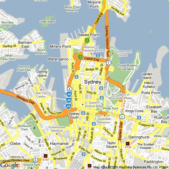 Perfect place to get married. Map of Sydney, NSW, Australia  #sydney #ceremonylocations #weddingideas #sydneyweddings