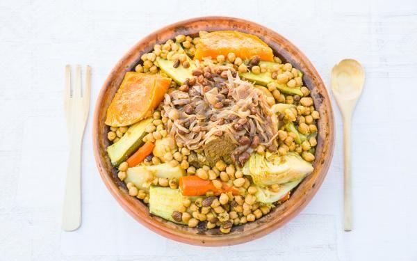 Cuscús tradicional marroquí