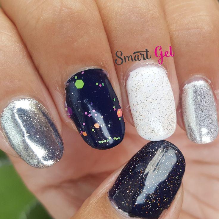 💅 #nails #nail #fashion #nailart #nailpolish #polish #nailswag #beauty #beautiful #pretty #girl #girls #stylish #sparkles #styles #glitter #art #photooftheday #love #style #shiny #cute #silver #black #manicure #confetti #white #smartgel