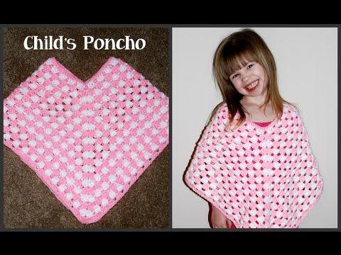CROCHET How to #Crochet Cute Baby Cape Shawl Poncho #TUTORIAL #168 Closed Caption LEARN CROCHET - YouTube