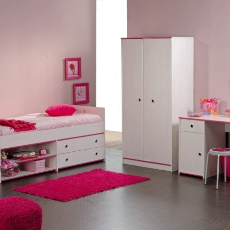 cute bedroom sets. Bedroom  Appealing Pink Accent Wall Color With Single Bed Combined Cabinet And Drawers Completed Girls Sets Furnished White Desk 21 best Cute bedroom sets images on Pinterest Bathroom ideas