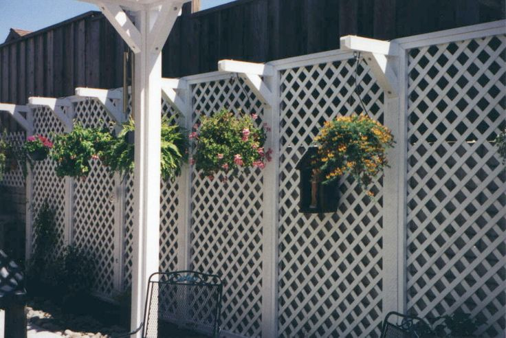 lattice fence designs | Decking of wood andsynthetics, Outdoor lighting, vinyl fencing,...