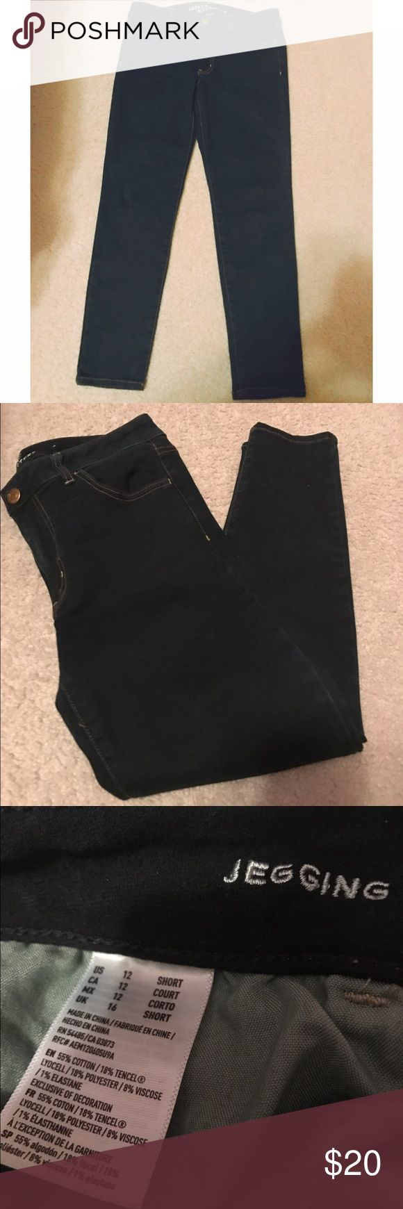 American Eagle Outfitters Super Stretchy Jeggings American Eagle Outfitters Dark Wash Super Stretch Jeggings - Size 12. Like new condition! No flaws. Feel free to ask any questions you may have. American Eagle Outfitters Jeans Skinny