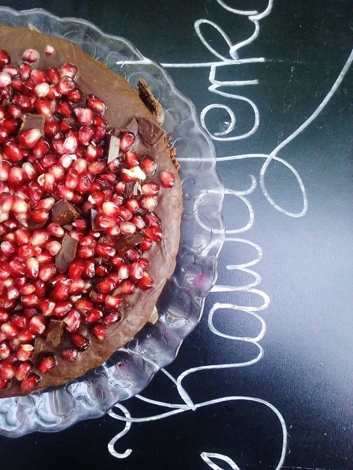 brownie with pomegranate, cracow, poland, - KawaLerka (kawiarnia, Kraków)  https://www.facebook.com/Kawalerka-1460346290884277/?fref=ts