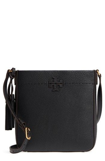 6ce38dfbc101 TORY BURCH MCGRAW LEATHER CROSSBODY TOTE - BLACK.  toryburch  bags  shoulder  bags  leather  crossbody