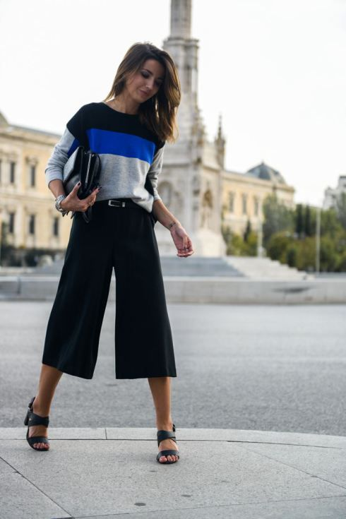 Arts Trend - Lovely Pepa by Alexandra Wear new look black and white block  heels with black culottes
