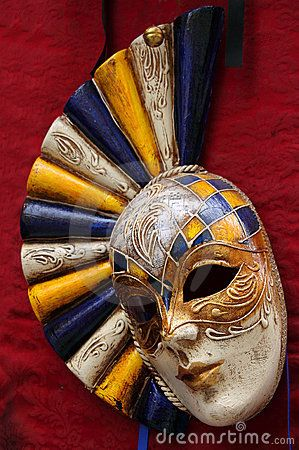 Venetian Carnival Masks   Venice Italy Venetian carnival mask on display