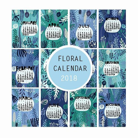 Check out this item in my Etsy shop https://www.etsy.com/listing/573872755/printable-flower-calendar-2018-a4-cute