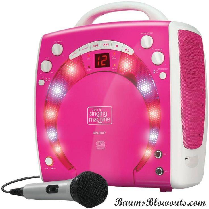 The Singing Machine Portable Karaoke Systems (pink)