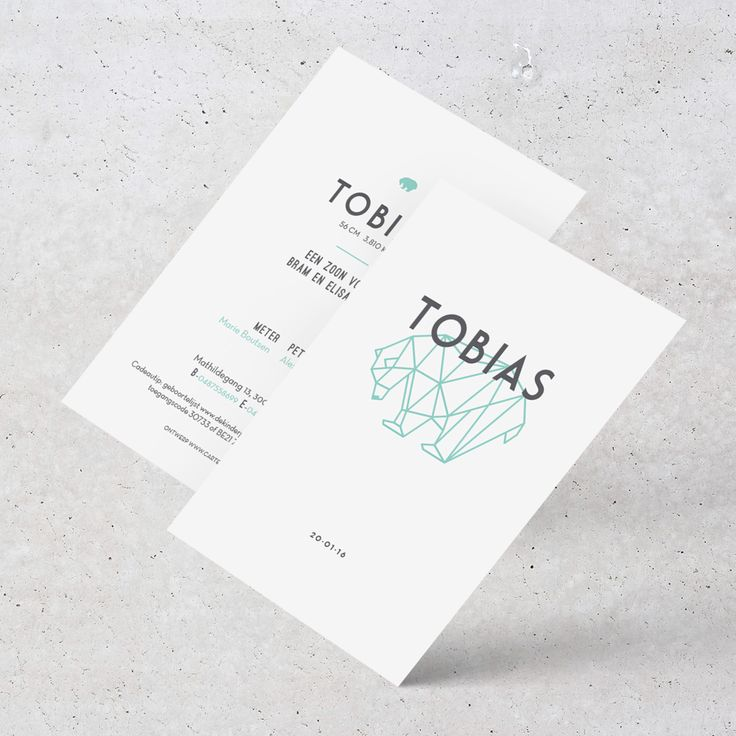 Birth announcement Tobias