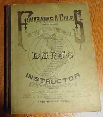 Fairbanks & Cole Banjo Instructor 1886
