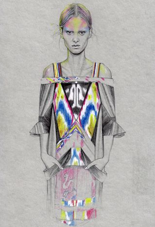 fashion illustrations by cedric rivrain! super swedish and cool!