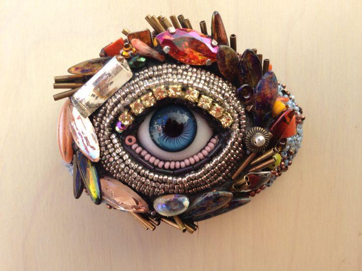 Beaded Wall Eye... www.byart.com Betsy Youngquist $175