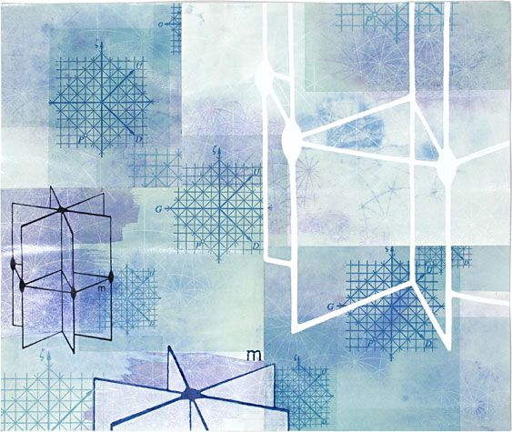 Amanda Knowles. Fraction III, 2008. Mixed media on paper. 19-1/2 x 23 inches.