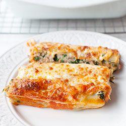 Cannelloni z mielonym mięsem i szpinakiem | Kwestia Smaku