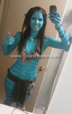 Homemade Avatar Costume: Last Halloween I decided to make my own Homemade Avatar Costume because I thought the ones online were too obvious and cheesy, and making you're own is