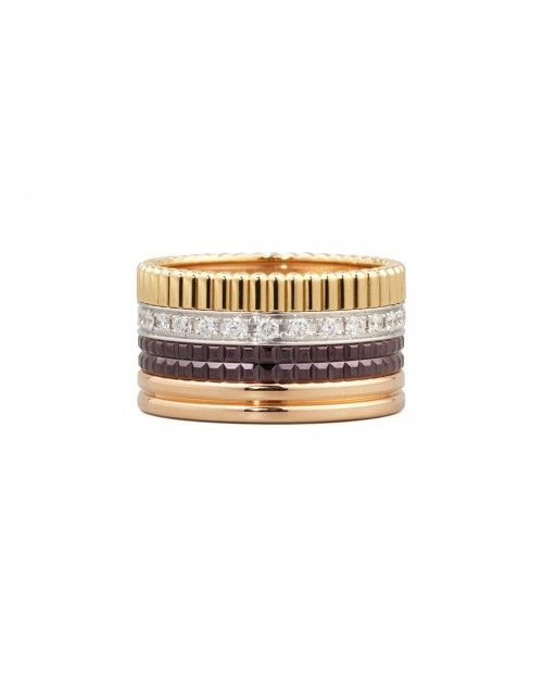 Boucheron+Classic+Quatre+18k+Gold+Diamond+Band+Ring+7+|+Jewelry+and+Accessory