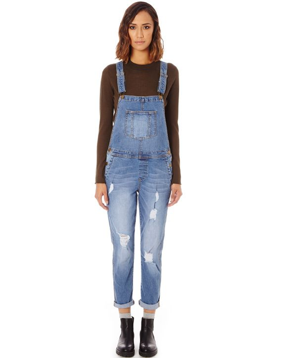 Cotton Long Overalls