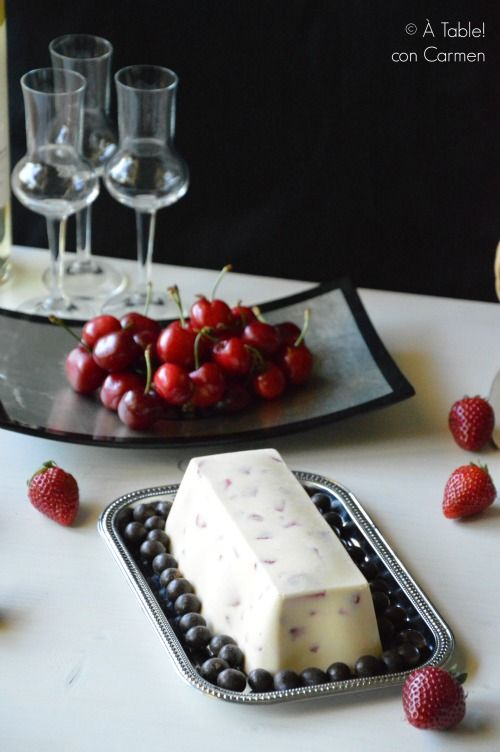 Helado de Chocolate Blanco y Frutos Rojos