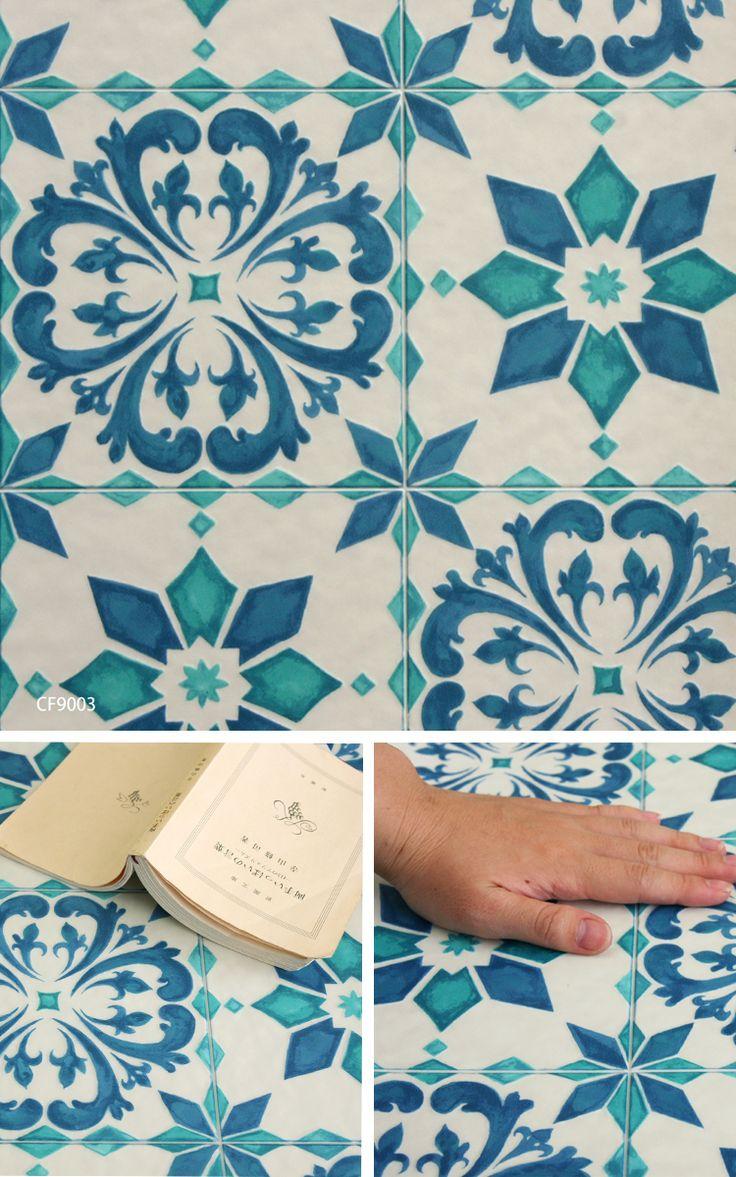 【楽天市場】クッションフロア [CFシート-H サーフェイスデコ モロッコタイル 東リ(1m単位)]※ ご注文時は1mを【1】として数量欄に入力してください。:床材専門店フロアバザール