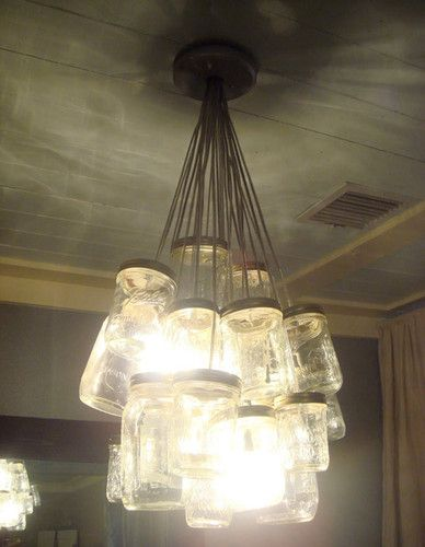 mason jar chandelier: Gardens Recipes, Ball Jars, Ideas, Lights Fixtures, Kara Paslay, Jars Lights, Masonjar, Mason Jars Chandeliers, Mason Jar Chandelier