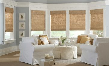 Classic Roman Natural Shades - traditional - roman blinds - burlington - Gordon's Window Decor
