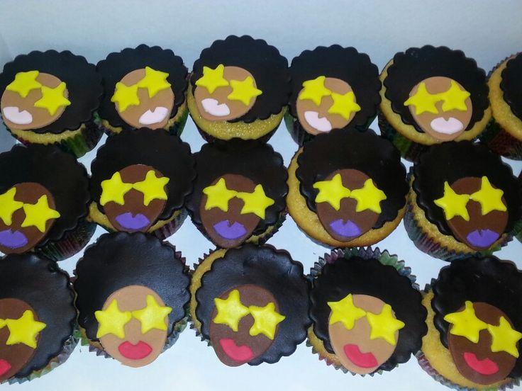 Afro Diva cupcakes