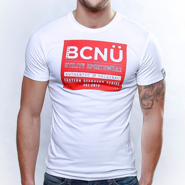 Curiosi-TEE White  Authentic and original in design this classic   Utili-TEE features a bold design, which will have you standing out in a crowd.    Born To Be Worn 24X7 this UtiliTEE is functional, versatile, sporty and has been designed for everyday use. www.bcnuclothing.com