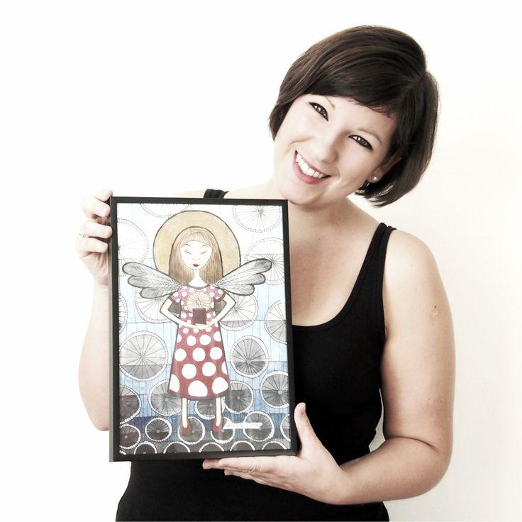 B.KIOW s andělem | Ateliér B. KIOW