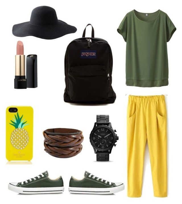 Hot day by dessy-latief on Polyvore featuring polyvore, fashion, style, Uniqlo, Converse, JanSport, Kate Spade, Peter Grimm and Lancôme