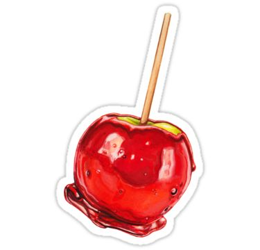 """""""Candy Apple"""" Stickers by Kelly  Gilleran   Redbubble"""