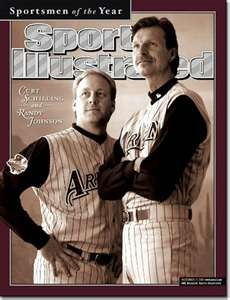 Randy Johnson, Baseball, Arizona Diamondbacks - 12.17.01 - SI Vault {with SCHILLING}