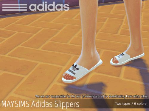 Adidas slippers for The Sims 4
