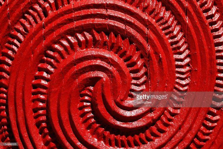 A Close Up of a Maori Statue carving.
