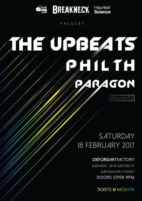 The Upbeats, Philth & Paragon Sat 18 Feb -Sydney