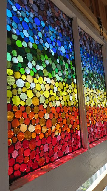 glass mosaic rainbow by Glass Artworks, via Flickr