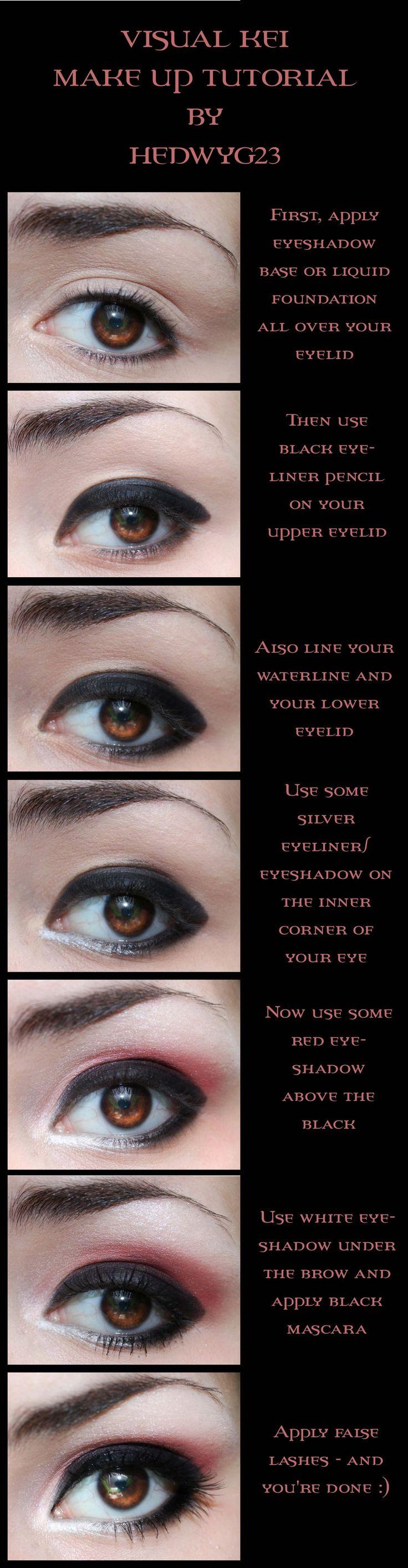 """Visual kei"" eye make up tutorial by Hedwyg23."