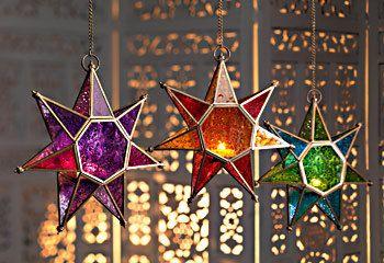 Moroccan Handmade Star Glass Lantern by GemologyStore on Etsy