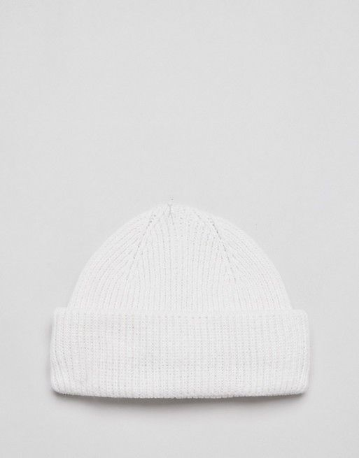 7a7eecc48 DESIGN mini fisherman beanie in white rib recycled polyester in 2019 ...