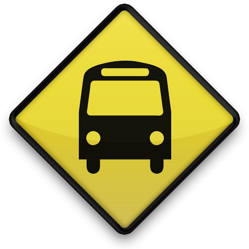 Road Sign Bus Icon