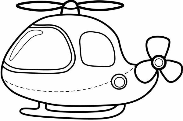 35+ Helicopter Cute Clipart Black And White