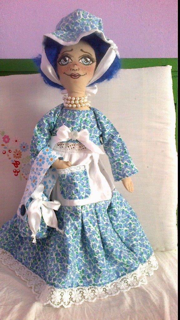 panenka dáma v modrém