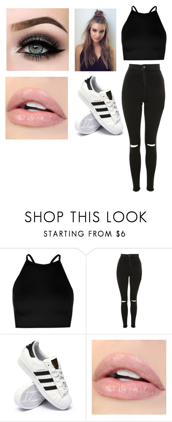 """""""dace practice # 3"""" by pagemoore on Polyvore featuring Boohoo, Topshop, adidas and ASAP"""