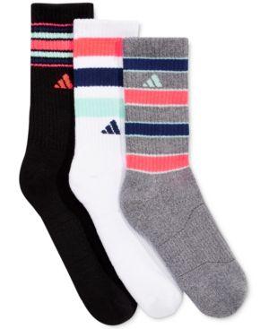 Adidas Women's 3-Pk. Retro Ii Crew Socks - White/Black/Onix
