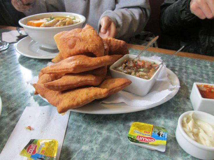 Sopaipillas con pebre, Puerto Montt, Chiloe