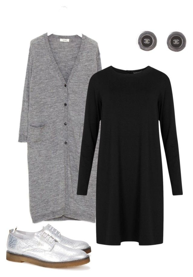 """Silver shoes"" by kirsti-salonen on Polyvore featuring Chanel and Eileen Fisher"