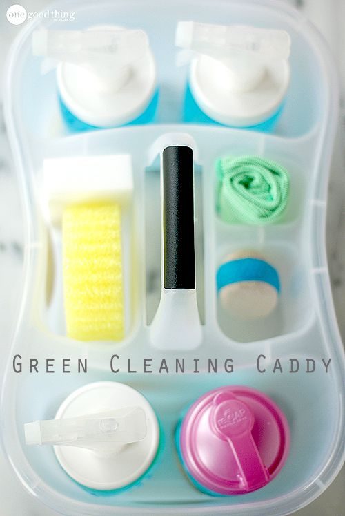 "With an inexpensive caddy, some basic ingredients, and a few simple tools, you can create your own cleaning caddy to help ""green"" and streamline your cleaning routine."