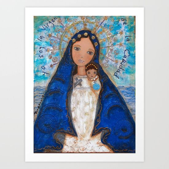 La Virgen de la Caridad del Cobre by Flor Larios Art Print by Flor Larios Art. Worldwide shipping available at Society6.com. Just one of millions of high quality products available.